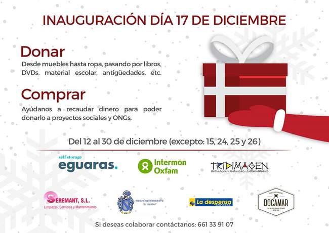 Del 12 al 30 de Diciembre, mercadillo solidario en Ciudad Lineal