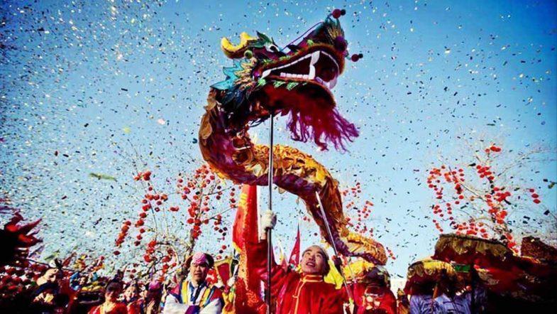 Celebración Año Nuevo Chino en Plaza España