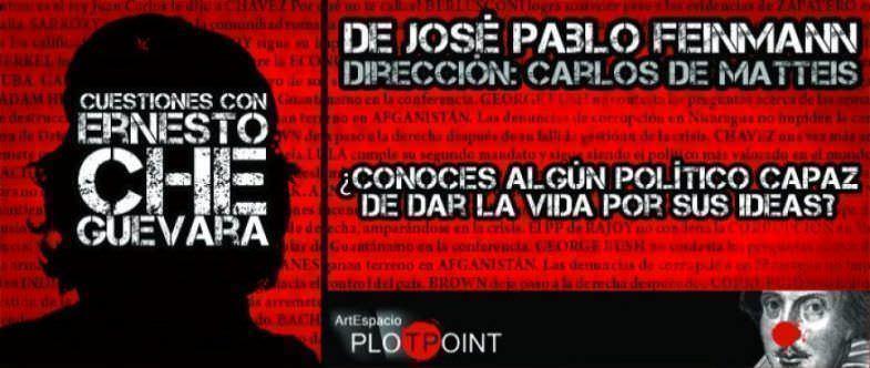 Cartel de la obra Cuestiones con Ernesto Che Guevara