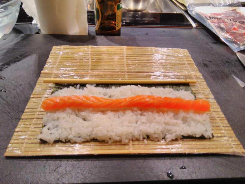 Preparación de Sushi en Kitchen Club