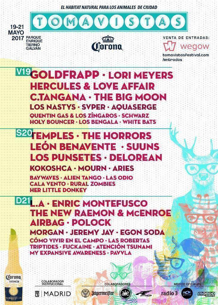 Tomavistas Festival cartel por días - Un buen día en Madrid