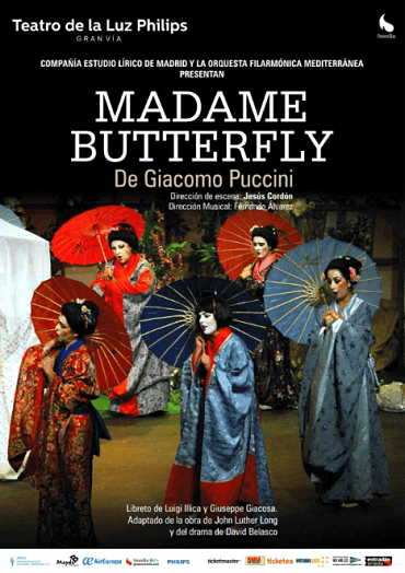 Cartel de la ópera Madame Butterfly