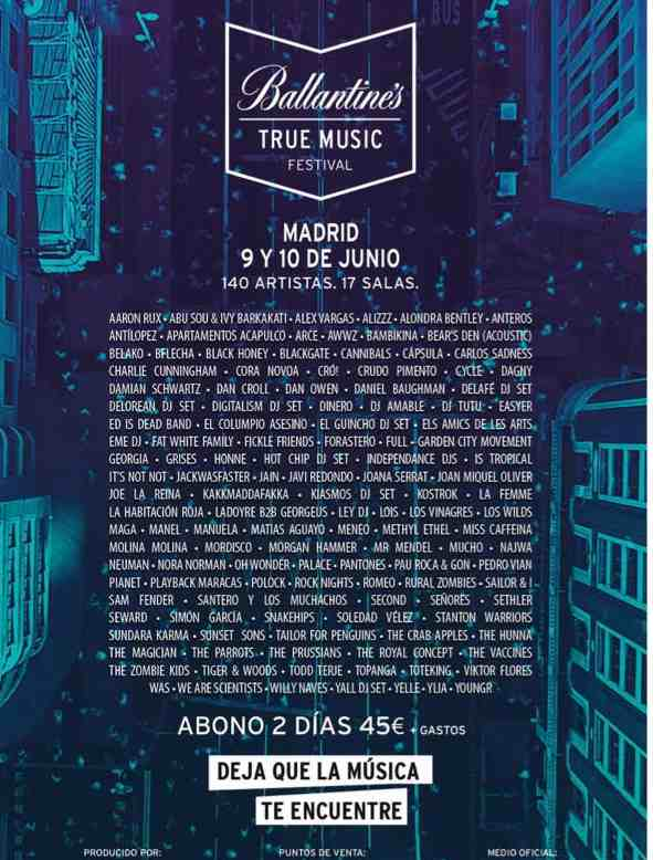 Cartel Ballantine´s True Music Festival