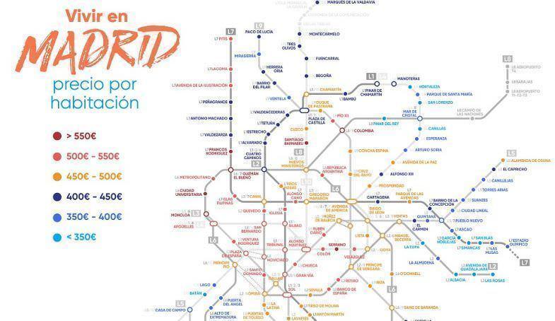 Mapa de metro habitaciones