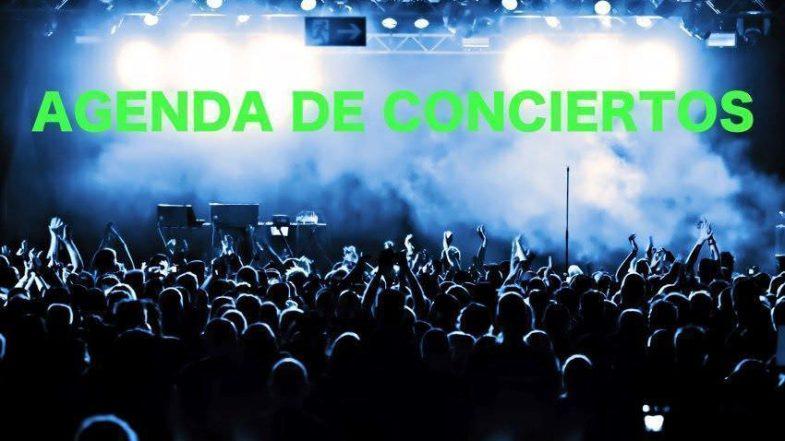 Agenda de concierto del 29 de mayo al 4 de junio