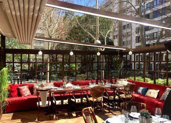 Terraza del restaurante Graciela, en Chamartín
