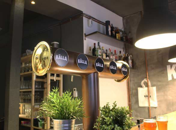 Grifo de cerveza en Källa