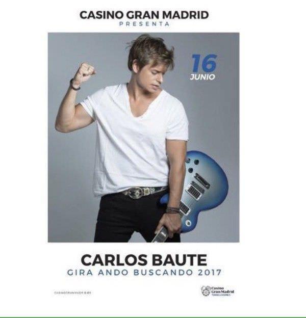 Carlos Baute actuara el 16 de junio en el Casino Gran Madrid