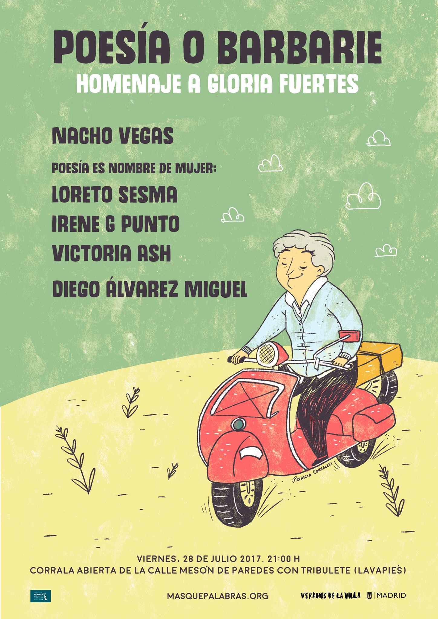 Poesía O Barbarie X Gloria Fuertes • Un buen día en Madrid