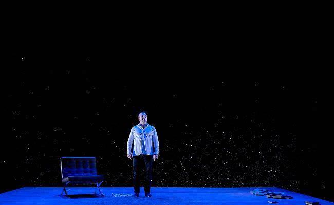 Inconsolable es un monólogo que se representa en el Teatro María Guerrero.