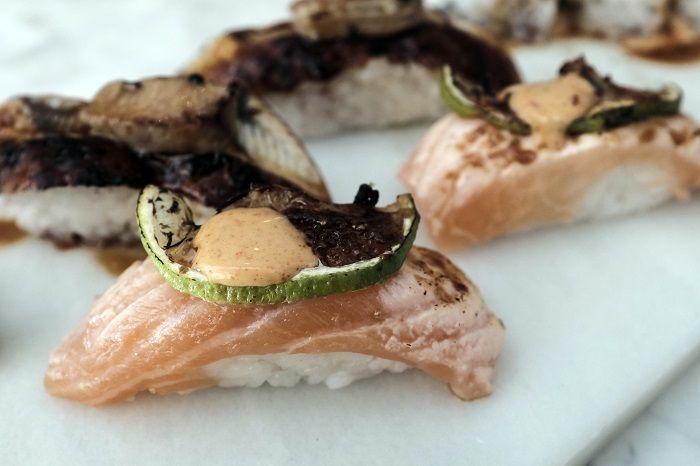 Nigiri de salmón Sr Ito