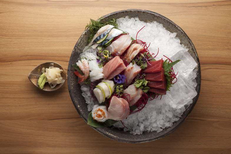 Variedad de sashimis en Enso Sushi