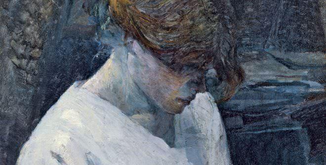 Henri de Toulouse-Lautrec, La pelirroja con blusa blanca, 1889.