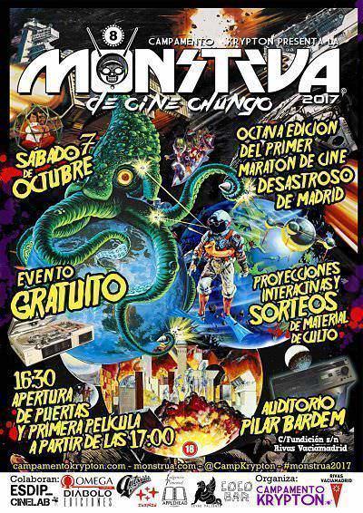 Cartel de la Monstrua de Cine Chungo