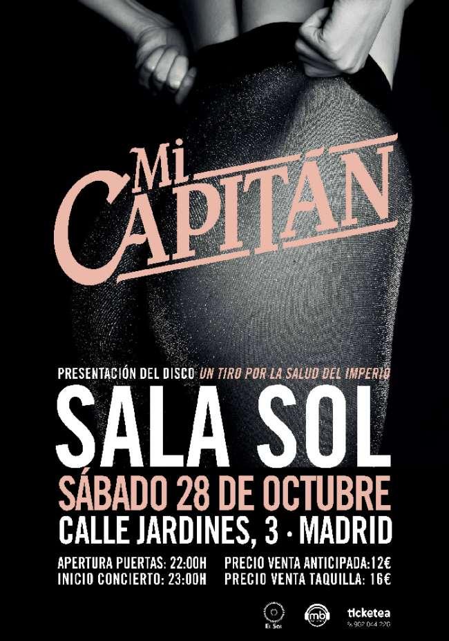 Mi Capitán actuaran en Madrid