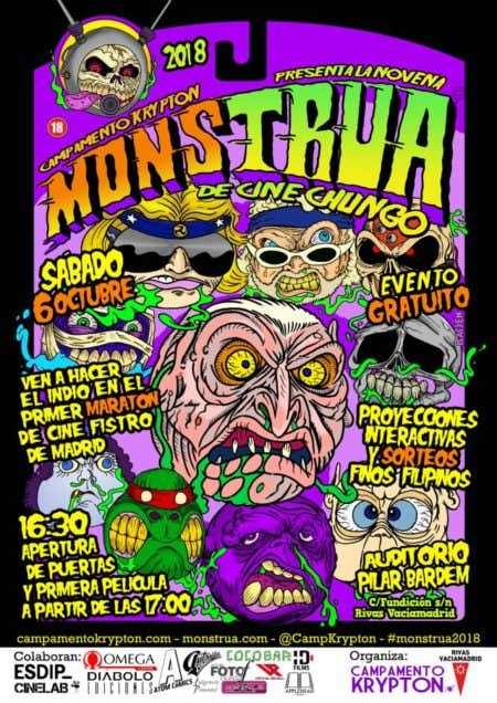 Cartel Monstrua de Cine Chungo 2018