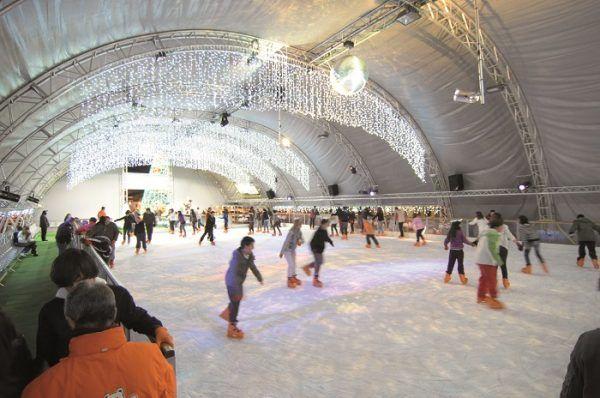 Pista de patinaje sobre hielo en torrejón