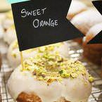 Donut vegano de sweet orange