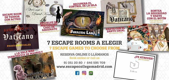 Escape college - escapismos madrid