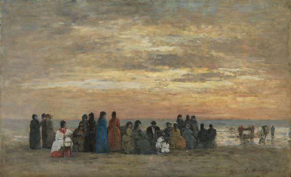 Figuras en la playa de Trouville de Boudin