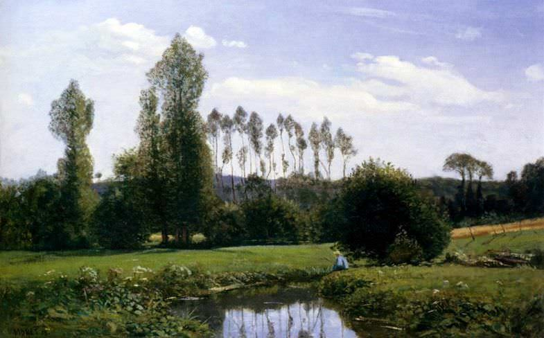 View at Rouelles, Le Havre, de Monet