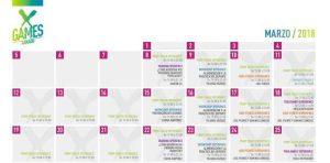 Calendario actividades X - Games Xanadú