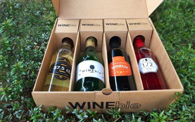 Winebie pack de 4 medias botellas