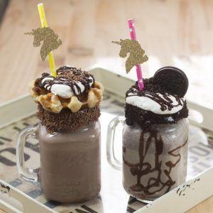 Batidos de chocolate y galleta