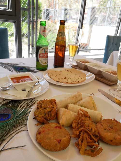 Entrantes cocina hindú en Annapurna