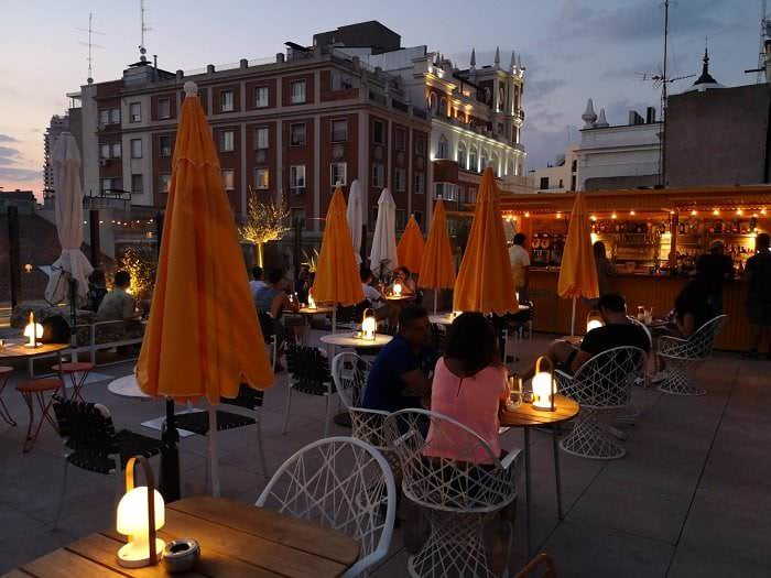 Las mejores terrazas de madrid hotel Generator