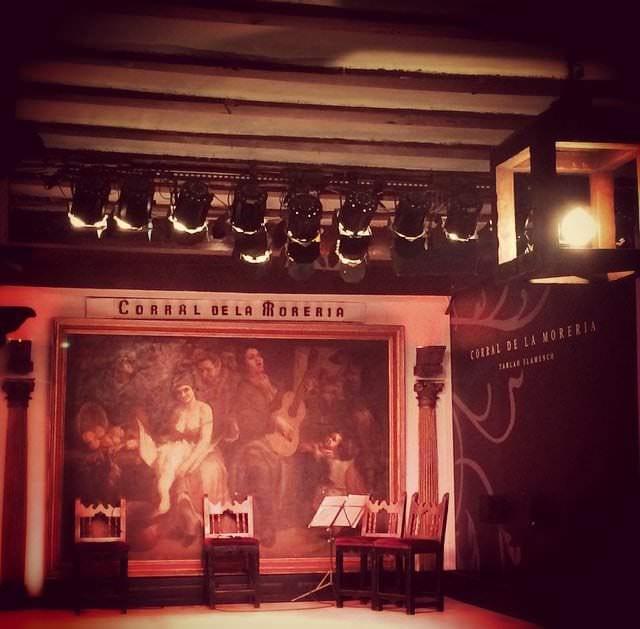 Tablao flamenco en el Corral de la Morería