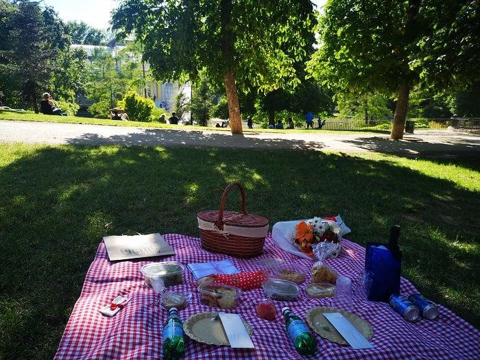 picnic sorpresa en el retiro