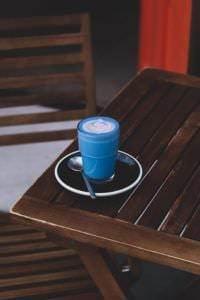 Blue Spirulina Latte. Foto: Religion Coffee