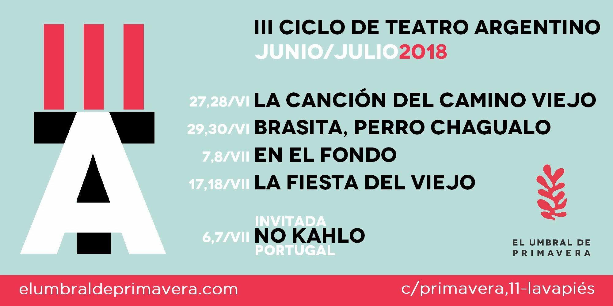 III edición del Ciclo de Teatro Argentino en Madrid