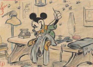 El sastrecillo valiente , 1938. Artista del estudio Disney. Esbozo. Lápiz de color y mina de grafito sobre papel © Disney Enterprises Inc.