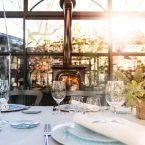 Cenador acristalado con chimenea