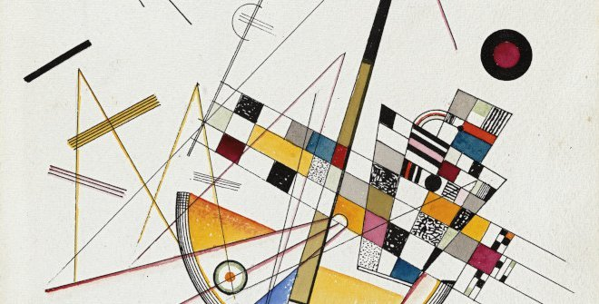 Wassily Kandinsky. Tension suave n.º 85, 1923. Acuarela y tinta sobre papel. 35,5 x 25 cm © Wassily Kandinksy, VEGAP, Madrid