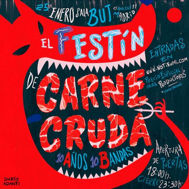 Festival 10 aniversario Carne Cruda