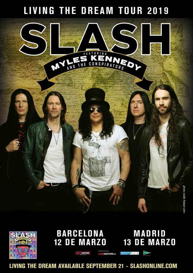 Slash en concierto en Madrid