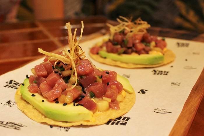 tostadas de atún rojo Santita