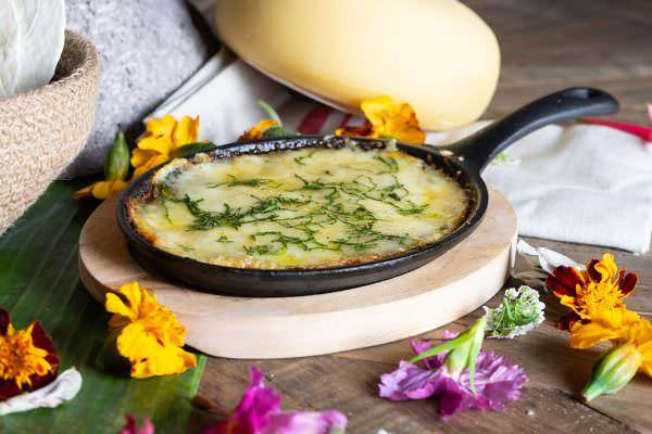 Cazuela de queso milpa