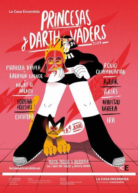 Cartel Princesas y Darthvaders