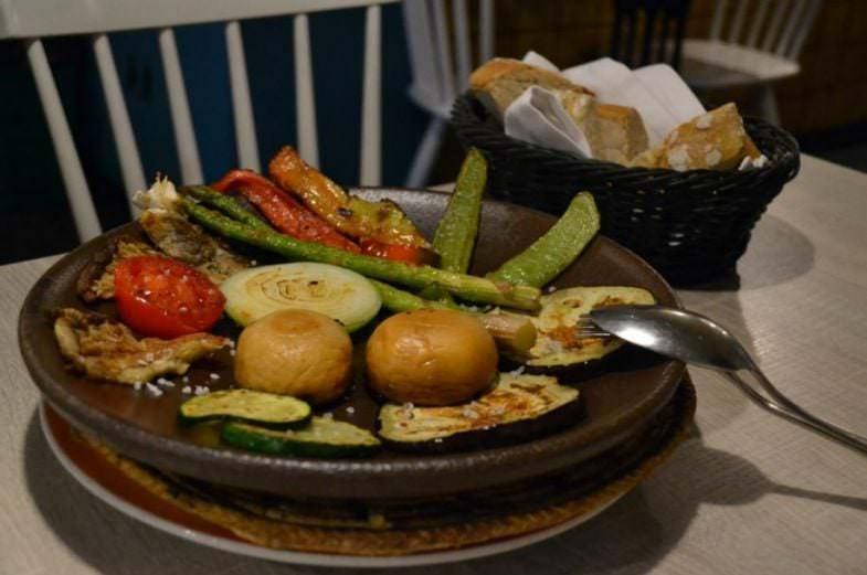 Verduras y setas a la plancha
