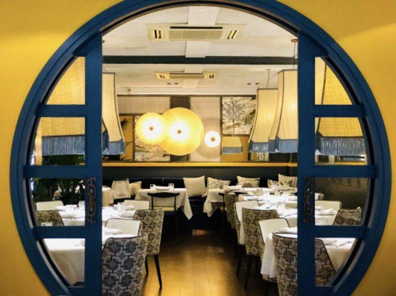 Salón del restaurante chino Hutong