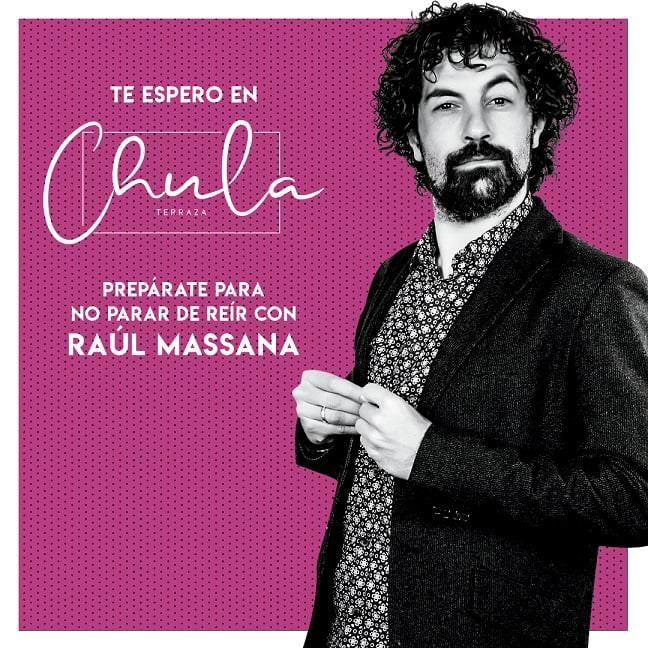 Raúl Massana llega a la terraza La Chula - Un buen día en Madrid