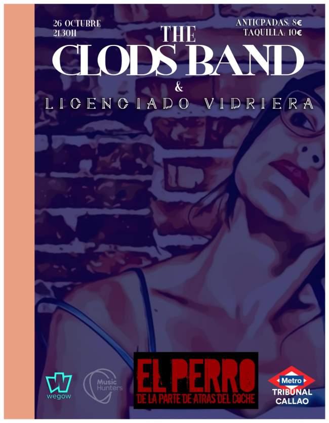 The Clods Band tocan el 26 de octubre en Madrid