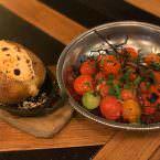 Patata y tomates cherry de guarnición