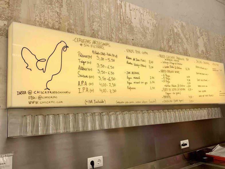 Menú de Chick Fried Chicken