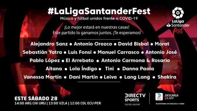 Artistas confirmados Cartel LaLigaSantander Fest