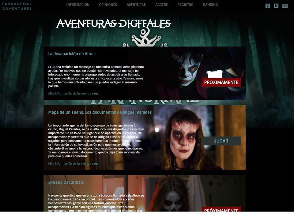 Paranormal Advenures Aventuras digitales